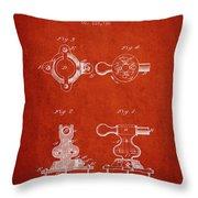 1879 Exercise Machine Patent Spbb08_vr Throw Pillow