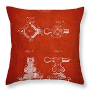 1879 Exercise Machine Patent Spbb08_vr Throw Pillow