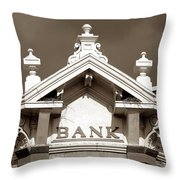 1880 Bank Throw Pillow