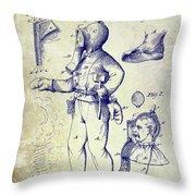 1880 Fireman Suite Patent Throw Pillow
