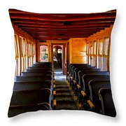 1880 Train Interior Throw Pillow