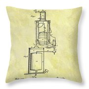 1881 Beer Cooler Patent Throw Pillow