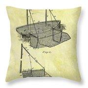 1882 Fishing Net Patent Throw Pillow