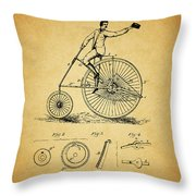 1883 Bicycle Throw Pillow
