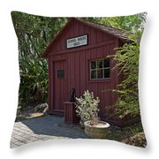 1883 Little Red Schoolhouse Throw Pillow