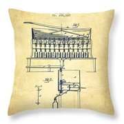 1884 Bottling Machine Patent - Vintage Throw Pillow