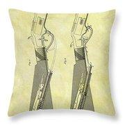1884 Rifle Stock Patent Throw Pillow