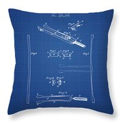 1885 Tuning Fork Patent - Blueprint Throw Pillow