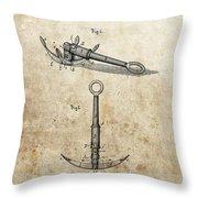 1887 Anchor Patent Throw Pillow