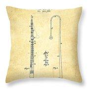 1887 Metronome Patent - Vintage Throw Pillow