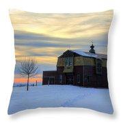 1888 Barn In Winter 02 Throw Pillow