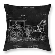 1888 Horse Drawn Carriage Throw Pillow