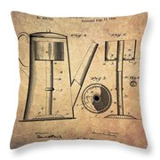 1889 Coffee Maker Patent Throw Pillow