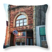 1890 Building Guthrie Ok Throw Pillow