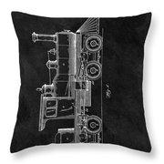 1891 Locomotive Engine Patent Throw Pillow