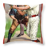 1895 In The Batters Box Throw Pillow
