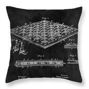 1896 Chessboard Patent Throw Pillow
