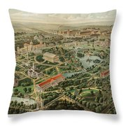 1897 Nashville Tennessee Throw Pillow