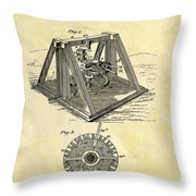 1897 Oil Rig Patent Throw Pillow