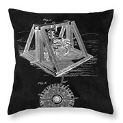 1897 Oil Well Rig Patent Design Throw Pillow