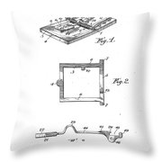 1898 Animal Mouse Trap Throw Pillow
