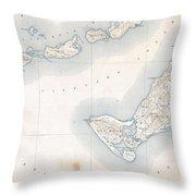 1898 Us Geological Survey Map Of Gay Head Marthas Vineyard Massachusetts Throw Pillow