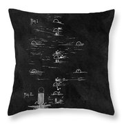 1899 Croquet Game Patent Throw Pillow
