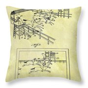 1899 Horse Racing Track Patent Throw Pillow