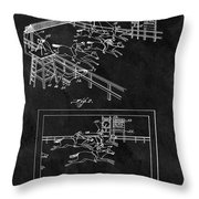 1899 Horse Track Patent Throw Pillow