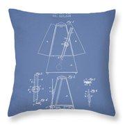 1899 Metronome Patent - Light Blue Throw Pillow