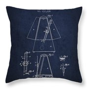 1899 Metronome Patent - Navy Blue Throw Pillow