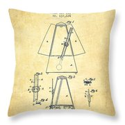 1899 Metronome Patent - Vintage Throw Pillow