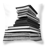 1.8.stack-of-sketch-books Throw Pillow