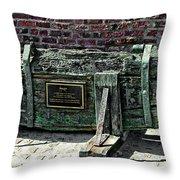 18th Century Sailing Ship Rudder Throw Pillow