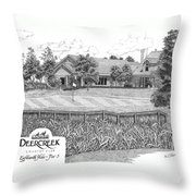 18th Hole - Deercreek Country Club Throw Pillow