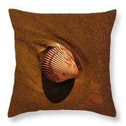 Beach Shell Throw Pillow