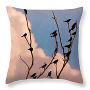 19 Blackbirds Throw Pillow