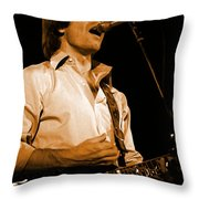 #19 Enhanced In Amber Throw Pillow