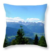K Landscape Throw Pillow
