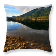 Landscape Acrylic Painting Throw Pillow