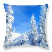 Landscape Color Throw Pillow
