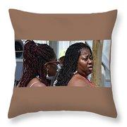Roatan People Throw Pillow
