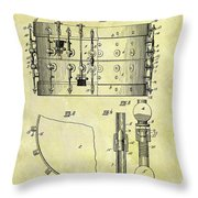 1900 Band Drum Patent Throw Pillow