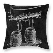 1900 Beer Cooler Throw Pillow