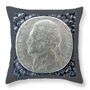 1900 Jefferson Earthquake Obverse Throw Pillow