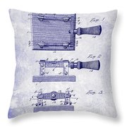 1900 Knife Switch Patent Blueprint Throw Pillow