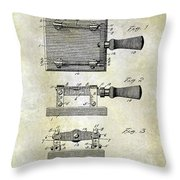 1900 Knife Switch Patent Throw Pillow