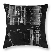 1900 Orchestra Drum Patent Throw Pillow