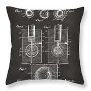 1902 Golf Ball Patent Artwork - Gray Throw Pillow