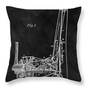 1902 Oil Well Patent Throw Pillow